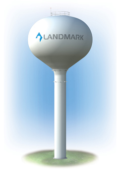 Spheroid Elevated Tanks, Lower Capacity Water Storage – Landmark